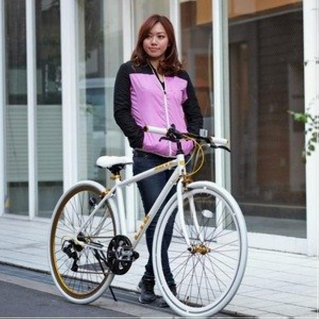 広範囲に夢中ランダムクロスバイク 700c(約28インチ)/ホワイト(白) シマノ7段変速 重さ/ 12.0kg 軽量 アルミフレーム 【LIG MOVE】【代引不可】