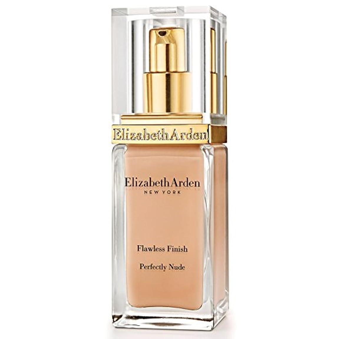 贅沢社会科パラナ川Elizabeth Arden Flawless Finish Perfectly Nude Foundation SPF 15 Vanilla Shake - エリザベスは、完璧な仕上がり完璧ヌードファンデーション 15バニラシェイクをアーデン [並行輸入品]