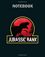 Notebook: jurassic bank design - 50 sheets, 100 pages - 8 x 10 inches
