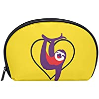 Cute Sloth Cosmetic Pouch Clutch Sea Shell-Shaped Makeup Bag Travel Handy Organizer Case Tolietry Pouch for Women