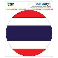 タイ国立国旗 - サークル MAG-格好いい'S(TM)カー/冷蔵庫マグネット