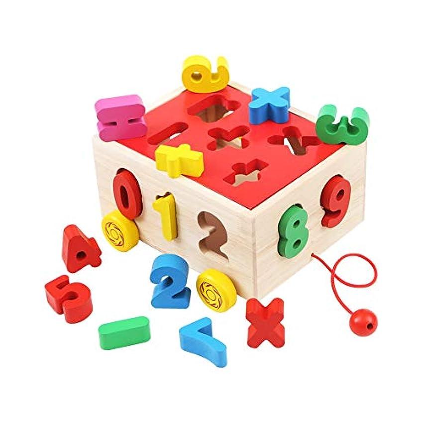 報復資源入札木製形状 カラー認識ボックス 数字の形 マッチングボックス ノックボール形状 認知知知知知能力ボックス 子供 早期教育玩具 男の子 女の子 数字スタイル