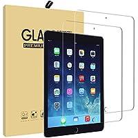 iPad 9.7 ガラスフィルム【2枚入り】 UCMDA 2.5D ラウンドエッジ加工 耐指紋 液晶保護 フィルム【3D Touch対応 / 硬度9H / 気泡防止/防爆裂 】iPad Pro 9.7 / Air2 / Air/New iPad 9.7インチ(2017年新型) 用 フィルム 強化ガラス
