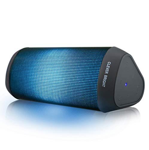 Bluetooth スピーカー LED ブルートゥース スピーカー 【TWS搭載 高音質 低音強化 内蔵マイク ハンズフリー通話 車載、風呂用