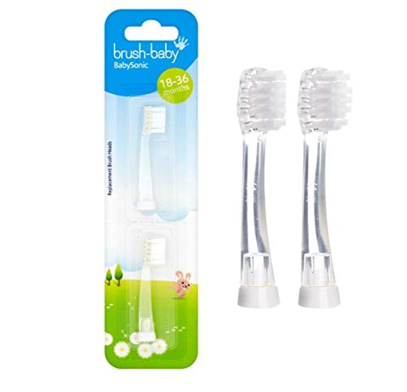 エトナ山視力機密Brush-Baby BabySonic 2 x Refill brush heads for 18-36 months - ブラシ - ベビーBabySonic 2 x詰め替えブラシヘッド18-36ヶ月間