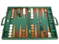 "Genuine Dollaro Leather Backgammon Set - Made in Italy - Large 23"""