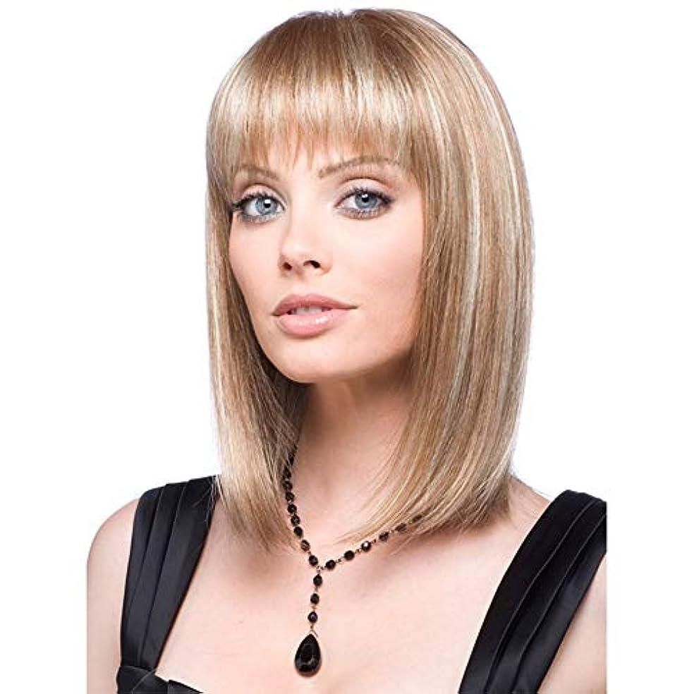 女性の短い巻き毛のかつら15