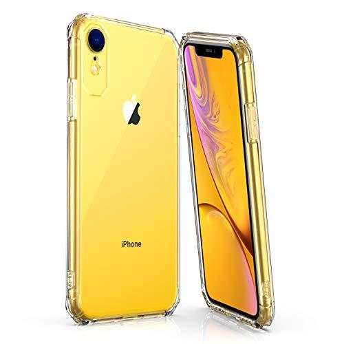 iPhone XR ケース クリアケース 6.1インチ TPU 薄型 黄変防止 Qi充電対応 レンゾ保護 衝撃吸収 指紋防止 ストラップホール付き 一年保証 iPhoneXR 専用カバー(クリア)
