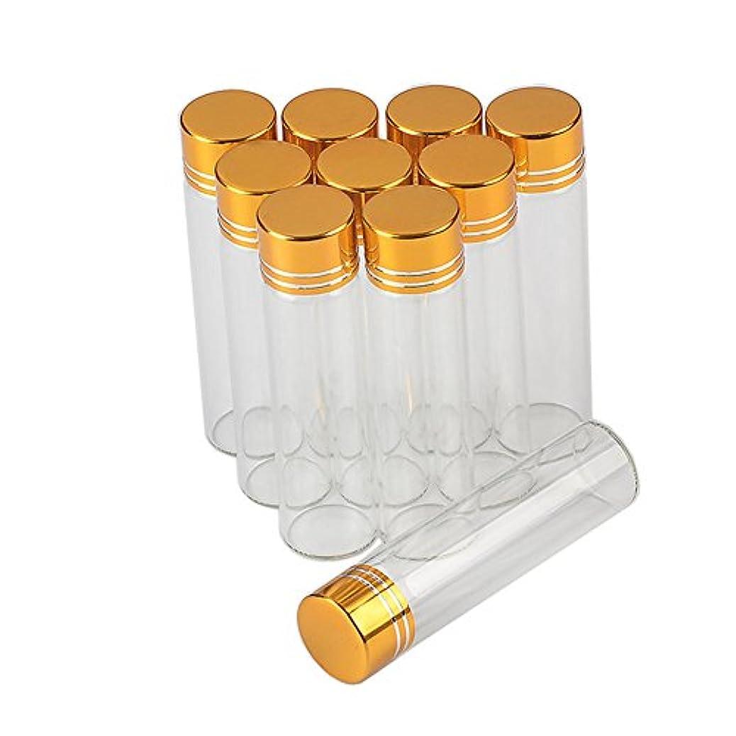 カセットカストディアン本質的に6ml 金色のキャップ さなガラスの瓶透明なガラス食品用のガラス瓶2018新100個セット (6ml-16x60x06, 金色のキャップ)
