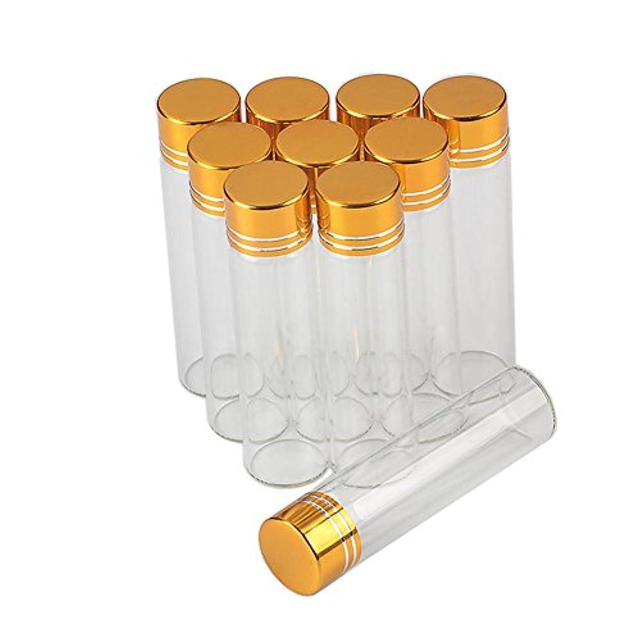 複雑不要変色する6ml 金色のキャップ さなガラスの瓶透明なガラス食品用のガラス瓶2018新100個セット (6ml-16x60x06, 金色のキャップ)