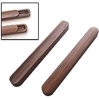 木製箸と箸箱セット、グリーンピーチウッド、ポータブル防水旅行用食器、25.5 Cm