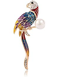Demarkt美しい女性のオウムブローチピンアールデコブローチ
