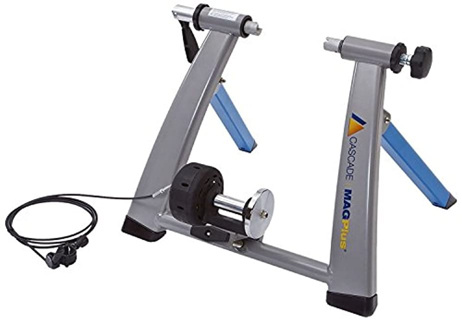 カイウスヘビ手首Cascade Health & Fitness Magplus Bike Trainer Light Blue/Silver [並行輸入品]
