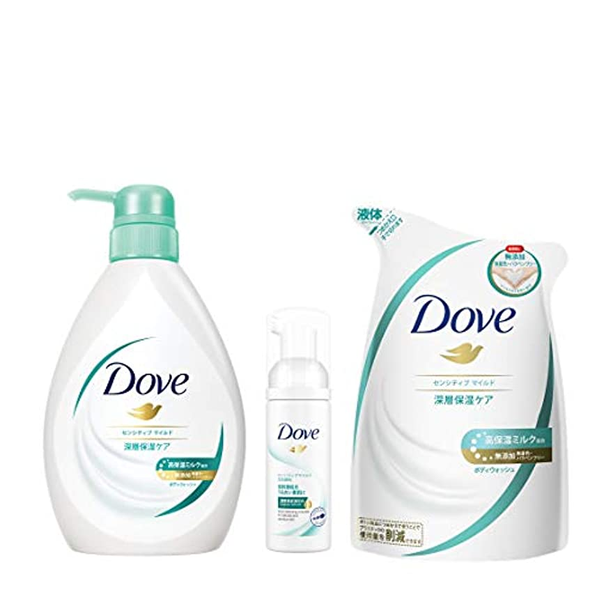 非武装化さようなら詳細に【Amazon.co.jp限定】 Dove(ダヴ) ダヴBWセンシティブマイルド ポンプ+替え+おまけ ボディソープ 500g+360+おまけ付