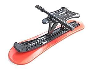 スノーライドボード 赤黒 雪滑り用ハンドル椅子付スノースクート 雪遊び用イス付そり