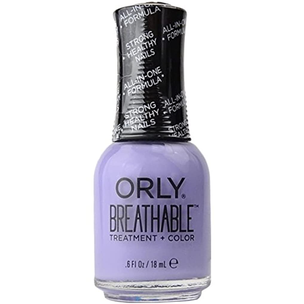 学習対象よろめくOrly Breathable Treatment + Color Nail Lacquer - Just Breathe - 0.6oz/18ml