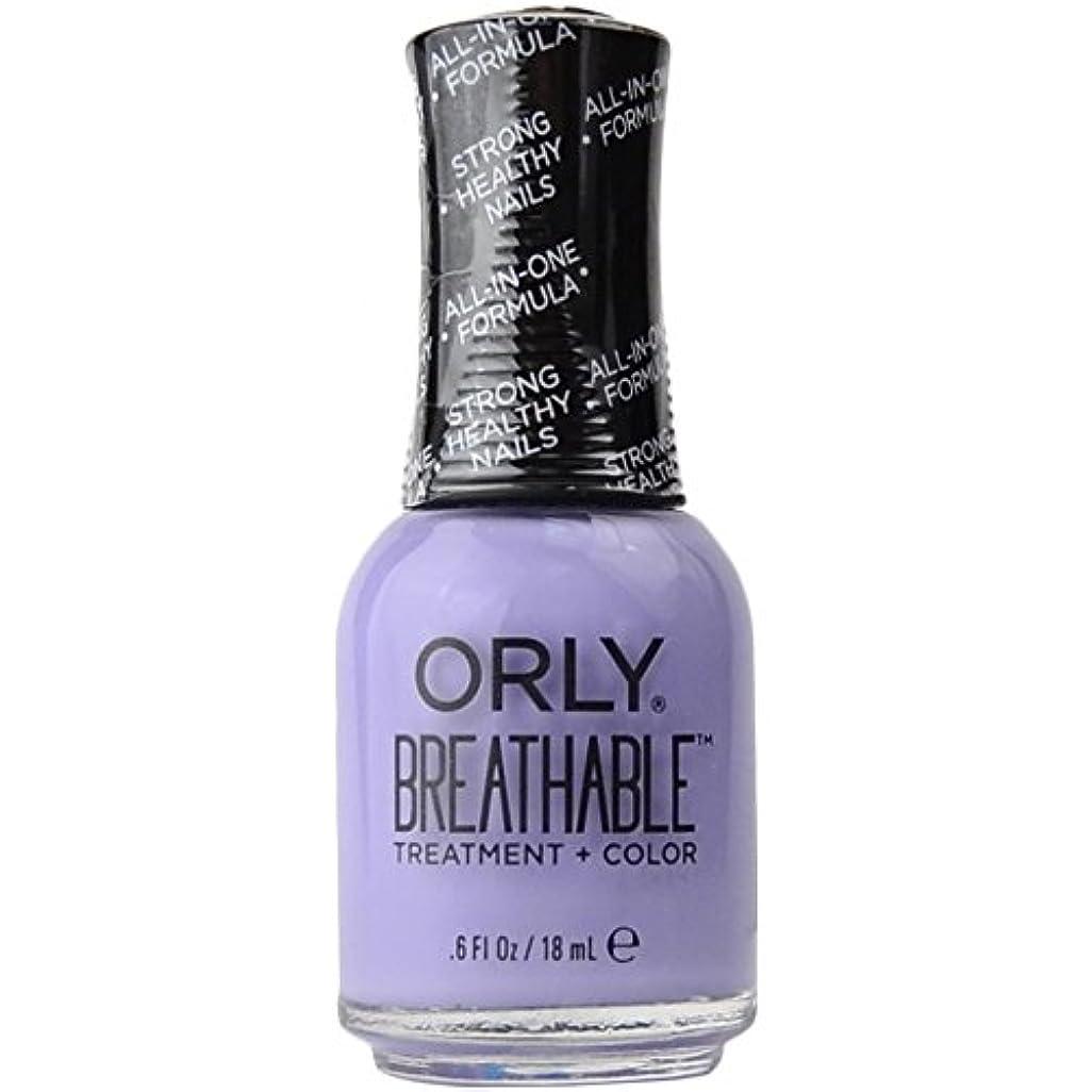 高度なタブレットプレビスサイトOrly Breathable Treatment + Color Nail Lacquer - Just Breathe - 0.6oz/18ml