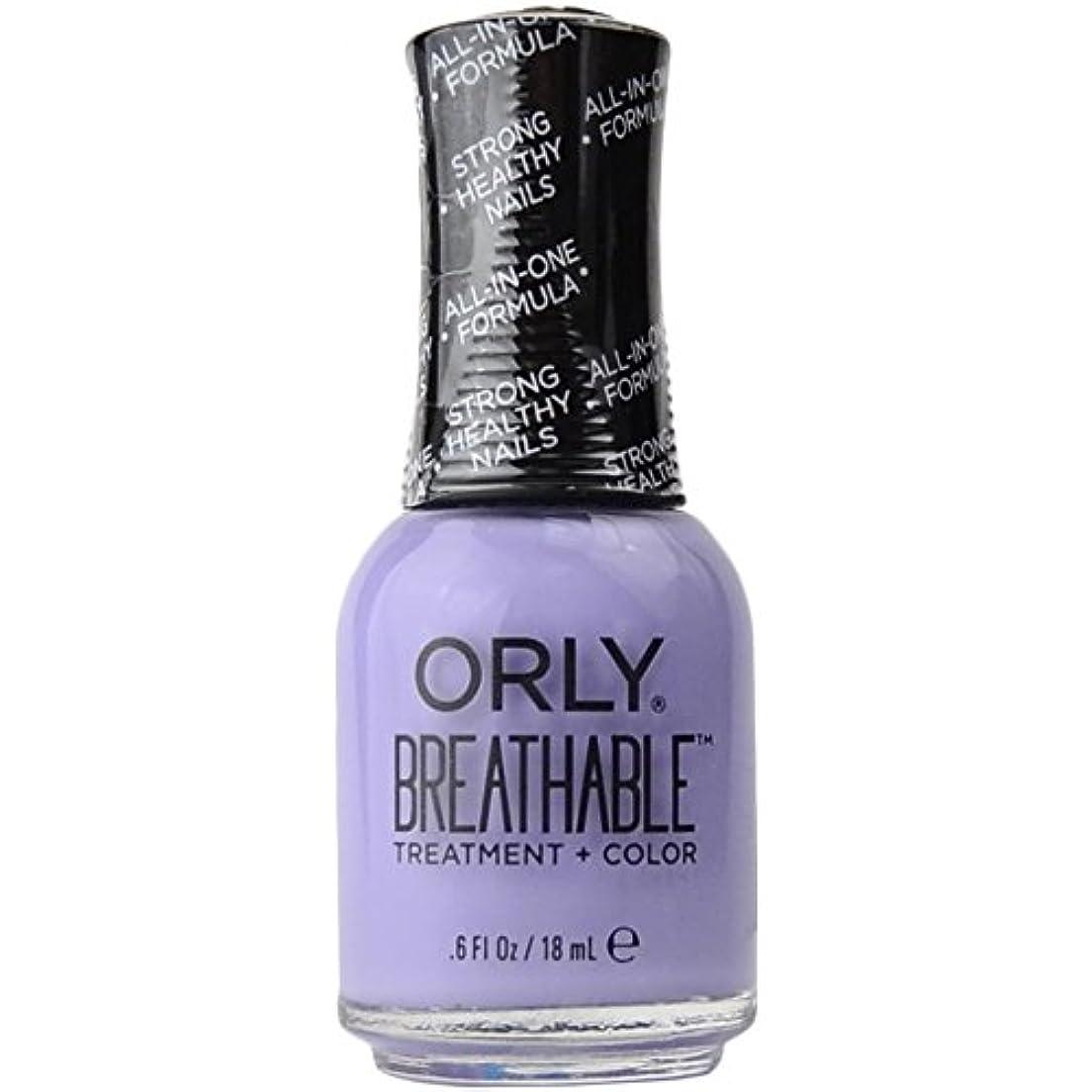 分離トラック特徴づけるOrly Breathable Treatment + Color Nail Lacquer - Just Breathe - 0.6oz/18ml