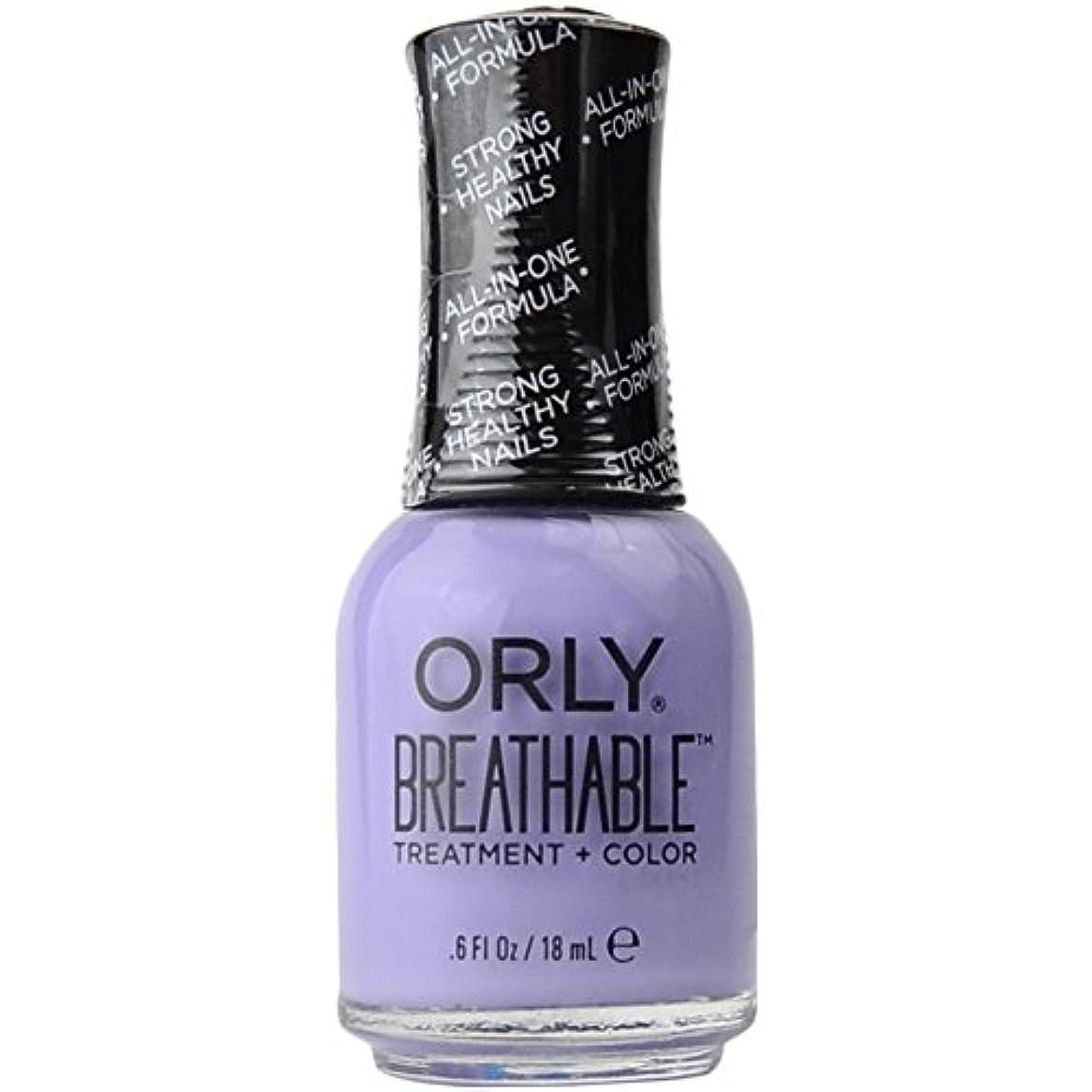 ヘビロータリー衝突Orly Breathable Treatment + Color Nail Lacquer - Just Breathe - 0.6oz/18ml