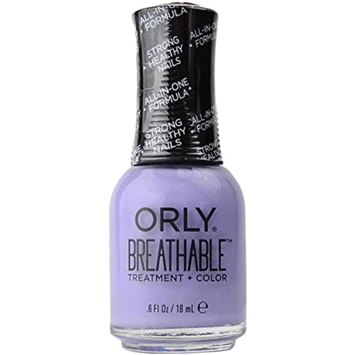 司令官筋肉の厚さOrly Breathable Treatment + Color Nail Lacquer - Just Breathe - 0.6oz/18ml