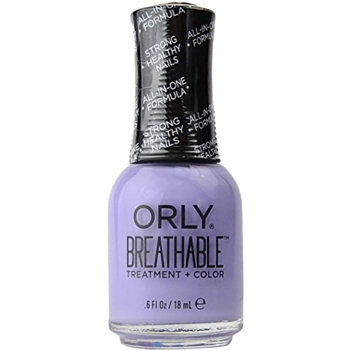 消費する降下ご注意Orly Breathable Treatment + Color Nail Lacquer - Just Breathe - 0.6oz/18ml