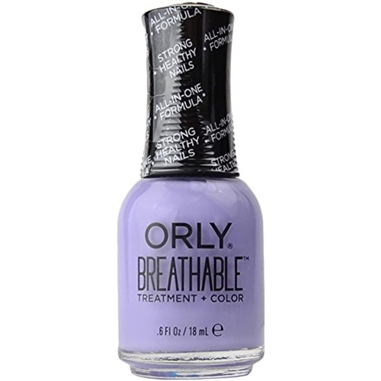 間違いバランス休憩Orly Breathable Treatment + Color Nail Lacquer - Just Breathe - 0.6oz/18ml