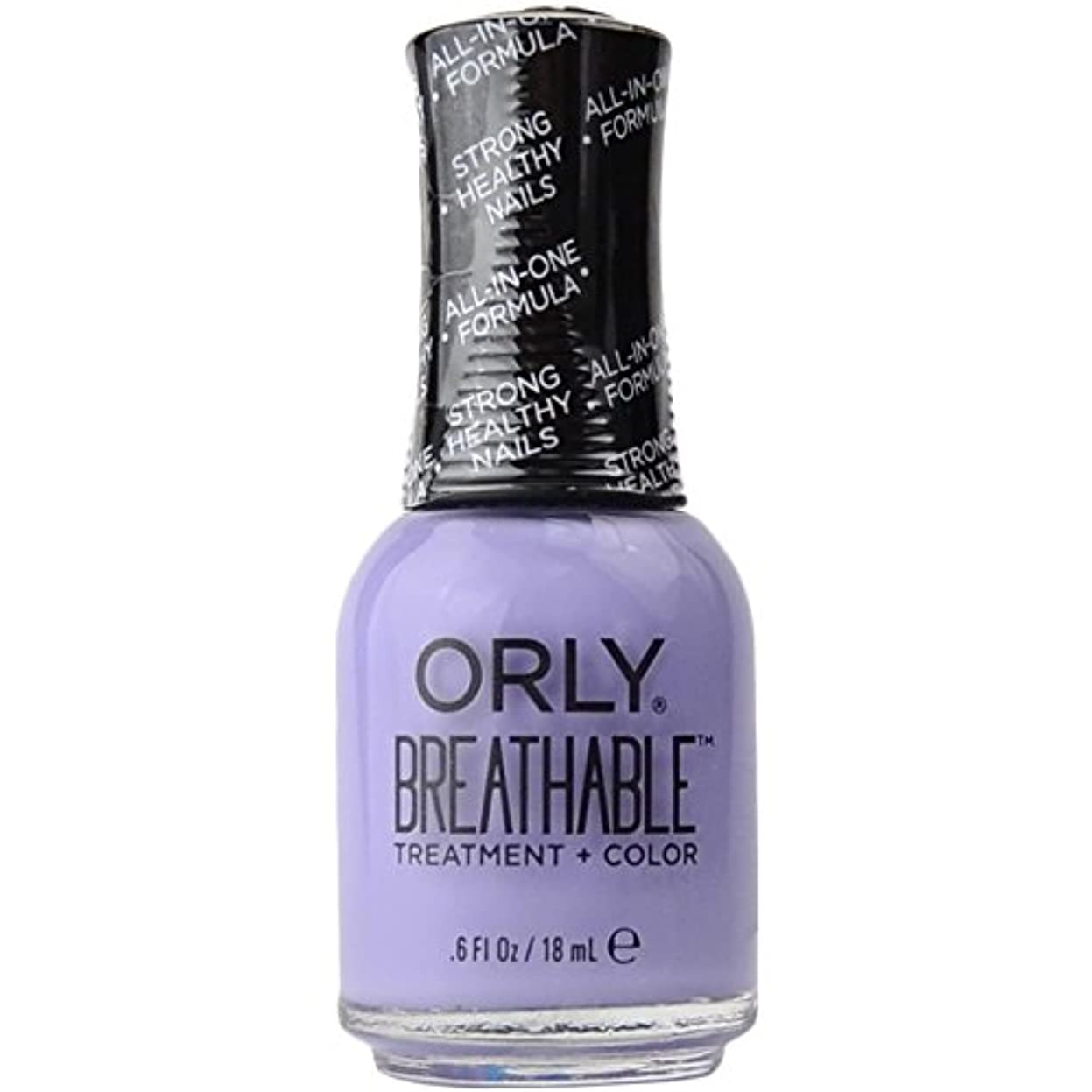 圧倒するシンポジウム一見Orly Breathable Treatment + Color Nail Lacquer - Just Breathe - 0.6oz/18ml