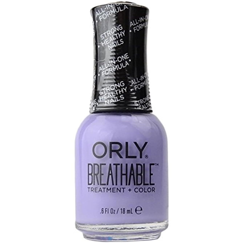 違反家事をするバッチOrly Breathable Treatment + Color Nail Lacquer - Just Breathe - 0.6oz/18ml
