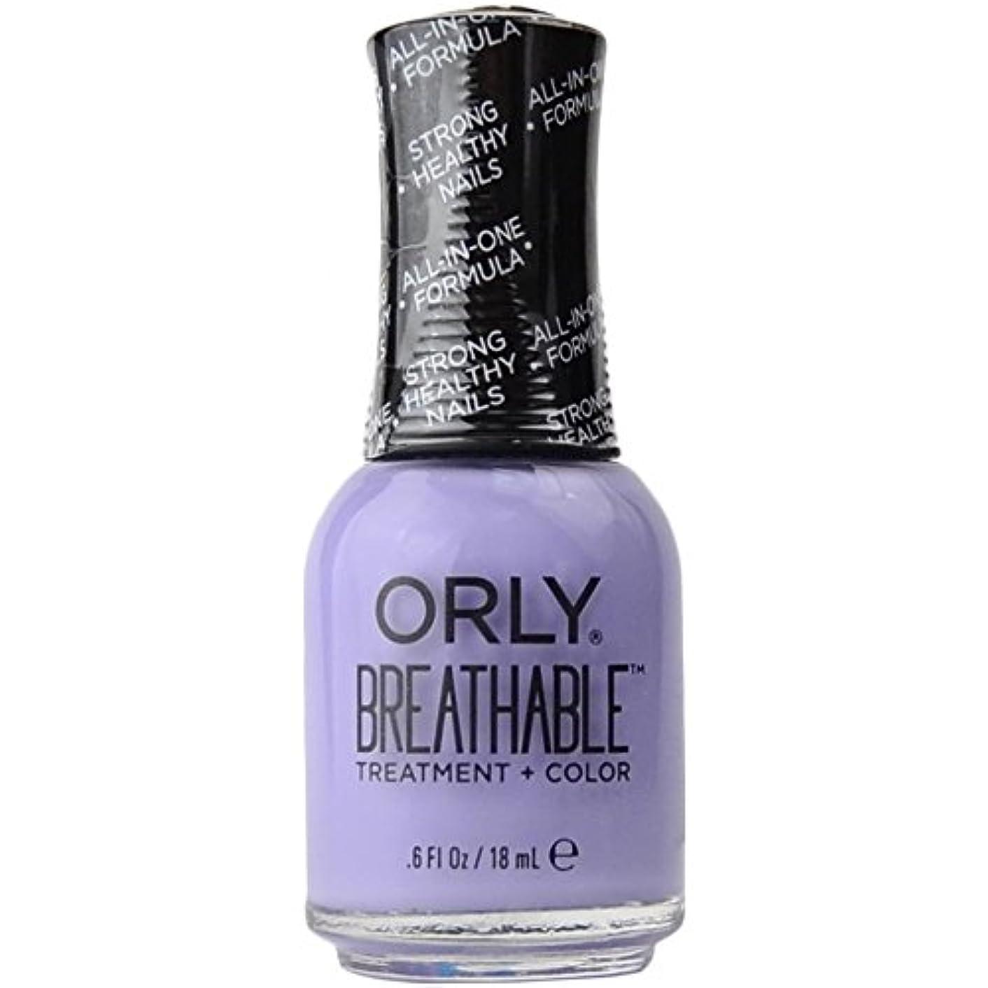 汚れた王室押すOrly Breathable Treatment + Color Nail Lacquer - Just Breathe - 0.6oz/18ml