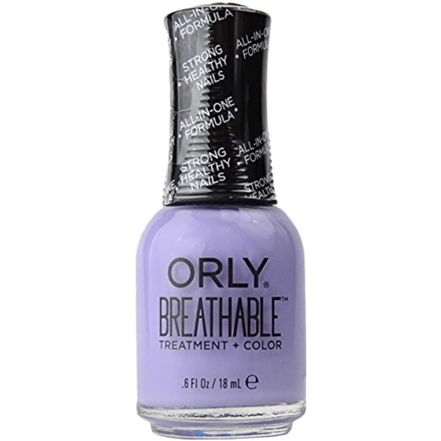 分析狂人デモンストレーションOrly Breathable Treatment + Color Nail Lacquer - Just Breathe - 0.6oz/18ml