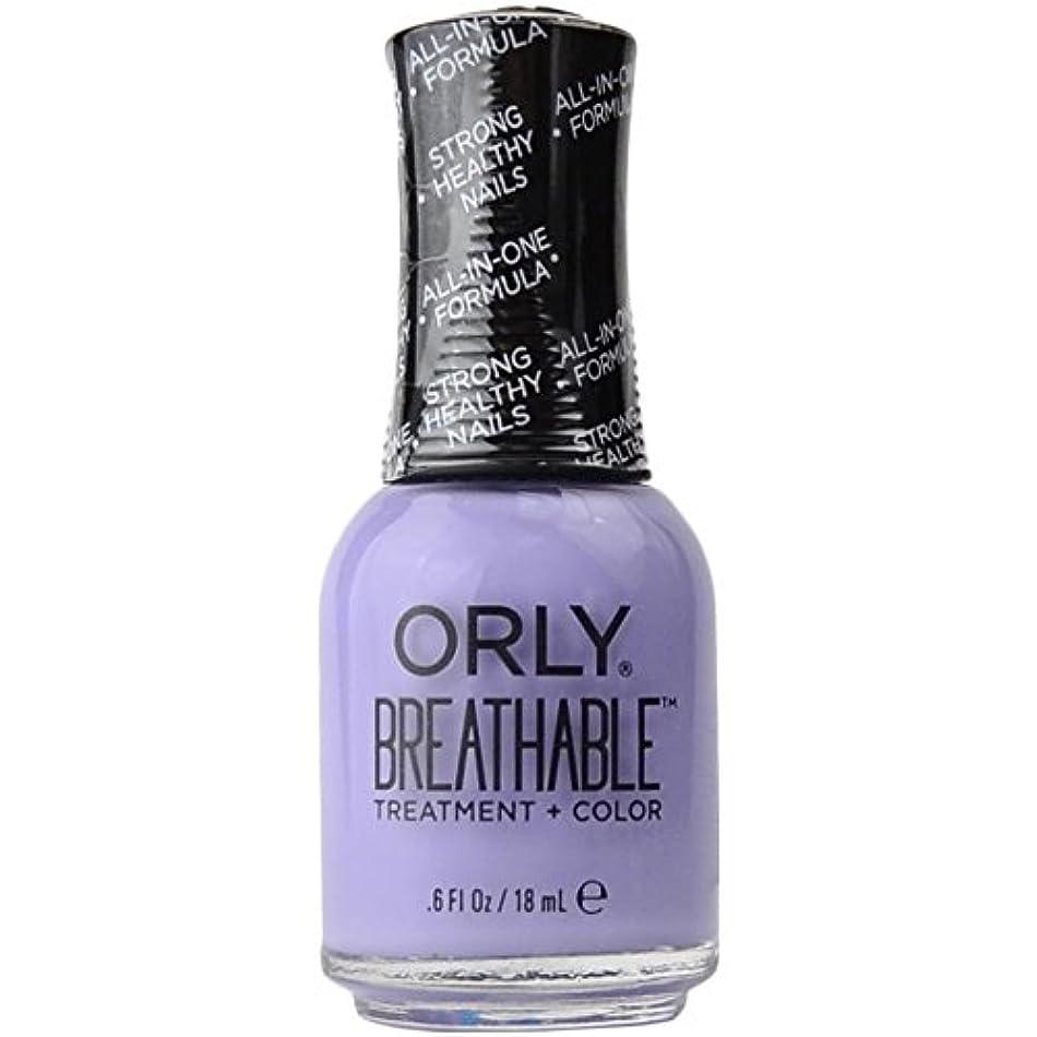句カビ魅惑するOrly Breathable Treatment + Color Nail Lacquer - Just Breathe - 0.6oz/18ml