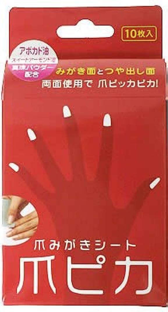 規則性打ち負かすスキーム爪みがき両面シート 爪ピカ 10枚入