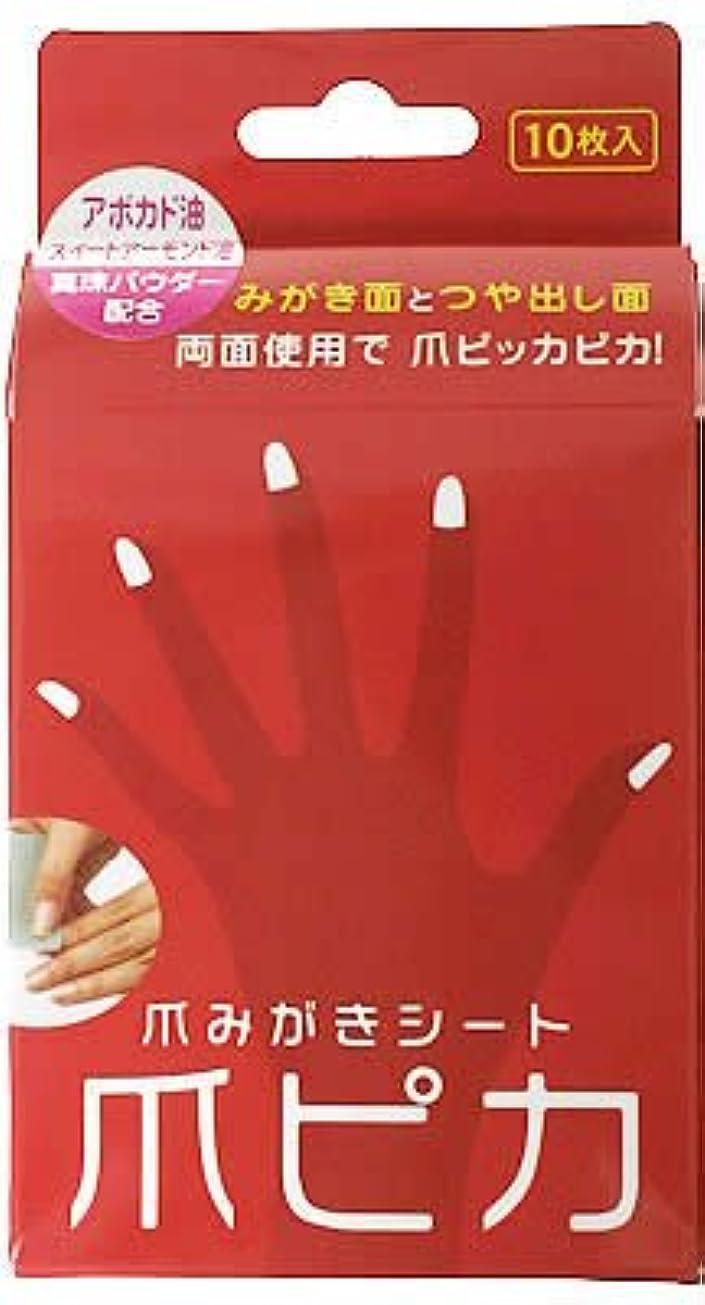 に渡って遊具技術的な爪みがき両面シート 爪ピカ 10枚入
