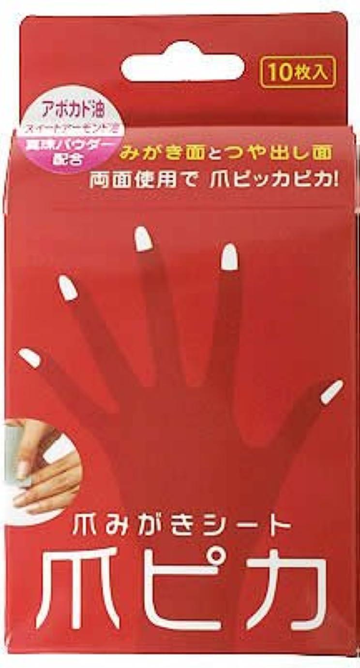 照らす一致危険な爪みがき両面シート 爪ピカ 10枚入
