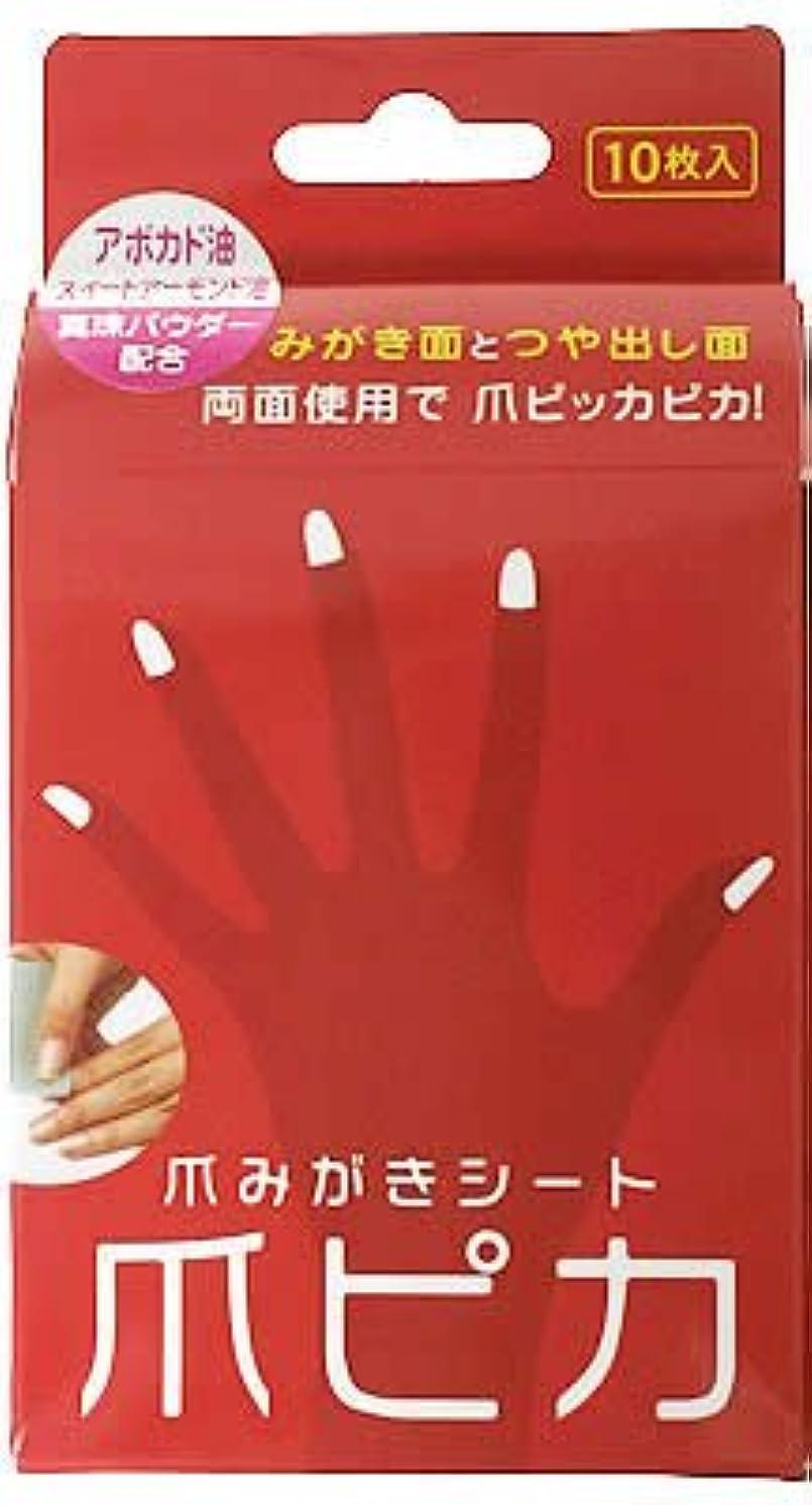 同意教える連想爪みがき両面シート 爪ピカ 10枚入