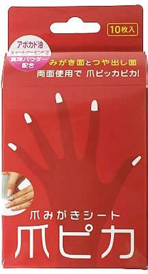 食物自体記録爪みがき両面シート 爪ピカ 10枚入