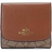 COACH コーチ 財布 レザー 3つ折り財布 ウォレット レザー F53837 シグネチャー 財布 (ブラウン)