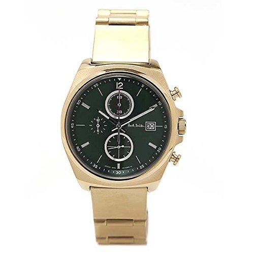 Paul Smith ポールスミス メンズ 腕時計 ニューファイナルアイズ クロノグラフ New Finaleyes Chronograph ダークグリーン ゴールド BA2-024-41 新品【並行輸入品】