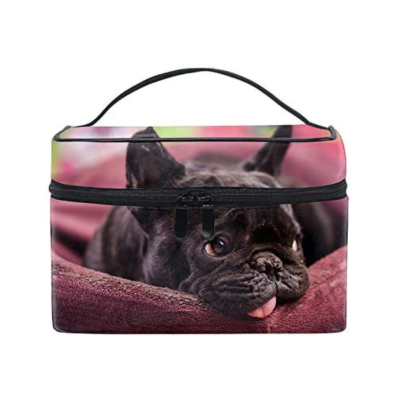 望ましいリム禁輸トラベルポーチ メイクポーチ 化粧ポーチ 充電器ポーチ 軽いフレンチブルドッグおかしい犬ブルドッグ