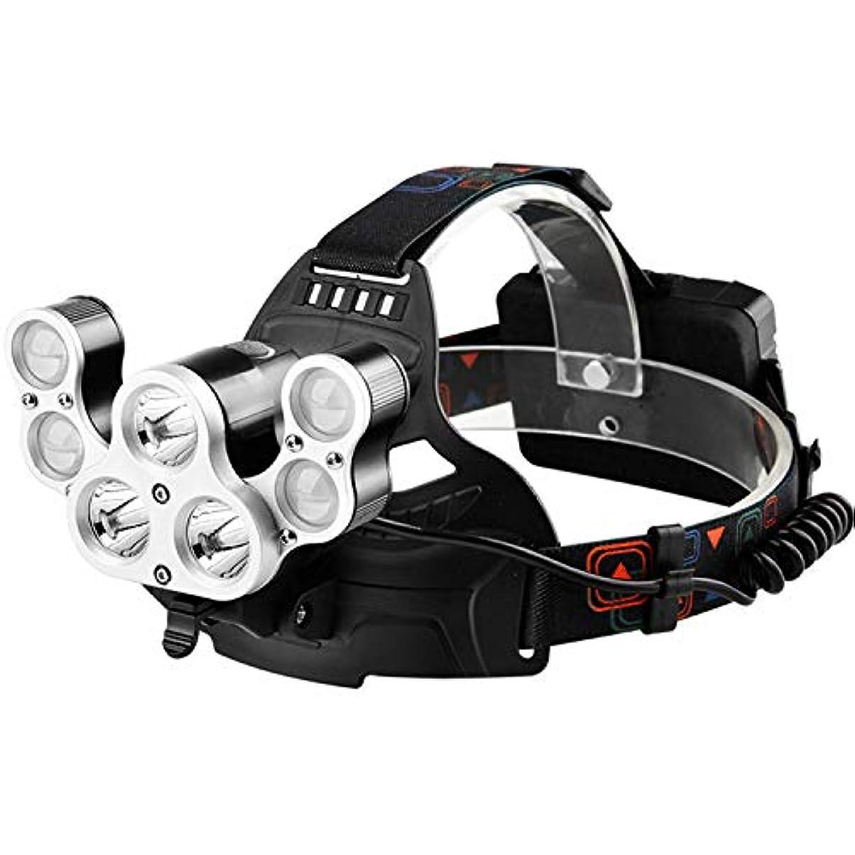 ライトニング子豚石鹸ヘッドライト、スーパーブライトグレア、ヘッドマウント式、充電式屋外ハンティングマイナーのランプ、LEDナイトライトフィッシング懐中電灯