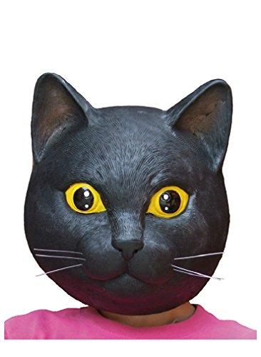 ラバーマスク 黒猫