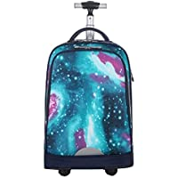 KJRJLG Unisex Wheeled Laptop Backpack Student for High School or College Rolling Gamer Laptop Backpack Wheeled Business Laptop Backpack Perfect for Travel