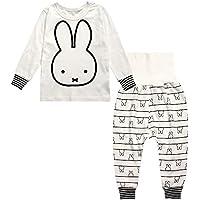 子供服 キッズ ホーム ウェア 長袖  パジャマ 上下セット ズボン 柔らかい (80)