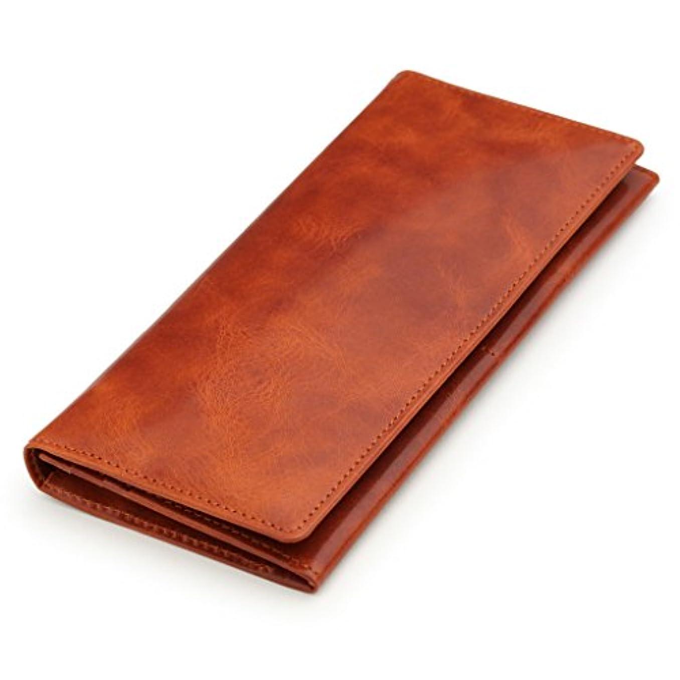 以来干ばつ剃る[アビエス] ABIES L.P. 日本製 ヴィンテージワックスレザー 本革 長財布