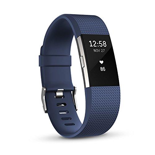 【日本正規代理店品】Fitbit 心拍計+フィットネスリストバンド Charge2 Large Blue  FB407SBUL-JPN