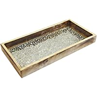 Nu Steel TR-240 Silver Mosaic Wooden Tray