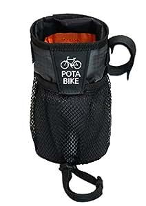 POTA BIKE(ポタバイク) ステムサイドポーチ 自転車用ハンドルポーチ/ドリンクホルダー (グレー)