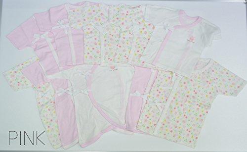 Skip House(スキップハウス) 新生児肌着 10枚組 アニマル柄 (ピンク)