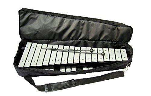 JOY MUSIC 折り畳み 卓上 鉄琴 30音 音楽 収納ケース付き (シルバー)