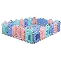 子供の保護フェンス、家庭のおもちゃゲームハウス屋内クロール学習安全ゲームフェンスオーシャンボールプール40-80CM (色 : E)